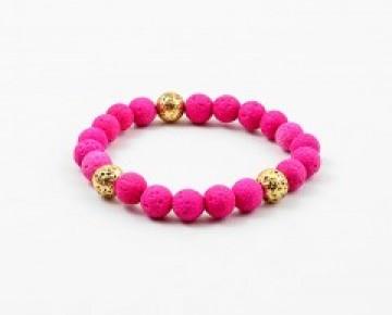 Abby Beaded Boho Bracelet Hot Pink
