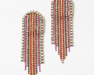 Abby Beaded Rainbow Tassel Earrings