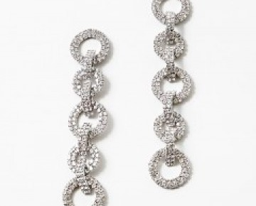 Samantha Statement Pave Chainlink Earrings