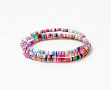 Abby Beaded Camp Inspired Friendship Bracelet Rainbow