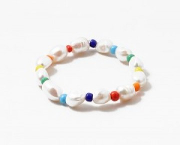 Abby Beaded Rainbow Pearl Bracelet