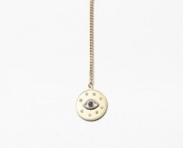 Sasha Sterling Lariat Evil Eye Necklace