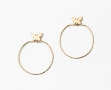 Sasha Sterling Gold Butterfly Earring