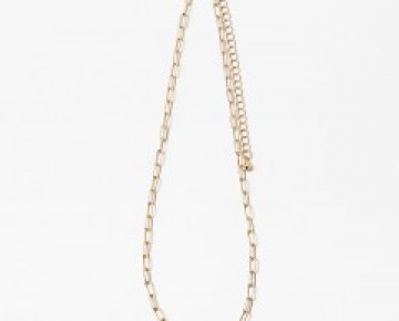 Gold Chainlink and Pearl Choker (adjustable)